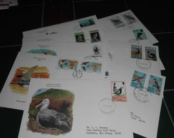 9 First Day of Issue Postage Stamps Envelopes International Birds 1980s
