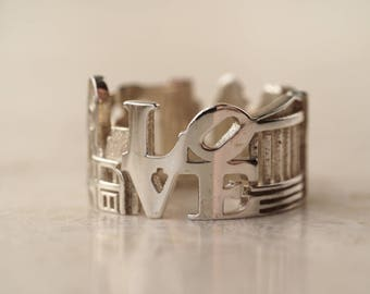 Philadelphia Cityscape - Skyline Statement Ring - Long Distance Relationship - Unique Gift - Mothers Day - Fancy Ring
