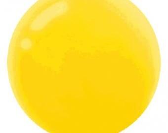 Jumbo Yellow Round Latex Balloon/24 Inch Round Yellow Latex Balloon/Round 24 Inch Yellow Latex 4 Pack