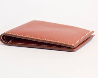 Leather wallet - Men's leather wallet - Bifold leather wallet