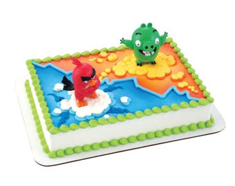 Angry Birds Red Bird & Bad Piggy Cake Topper