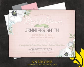 ANEMONE . shower invitation