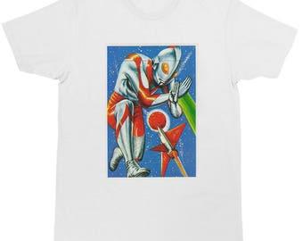 Japanese retro  Super Hero Ultraman T-shirt