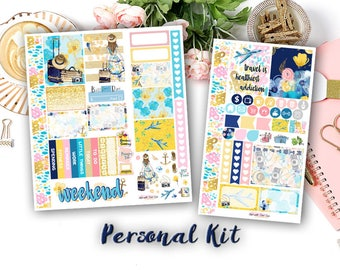 Travel with Me || Personal Size (fits SMC WO2P insert) weekly stickers kits