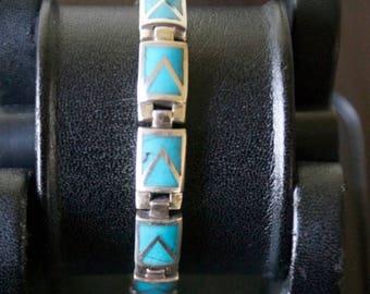 ON SALE Stylish M O P. Silver Bracelet