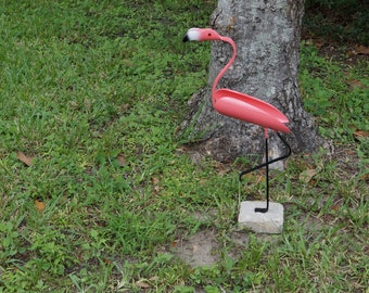 flamingo made from pvc pipe