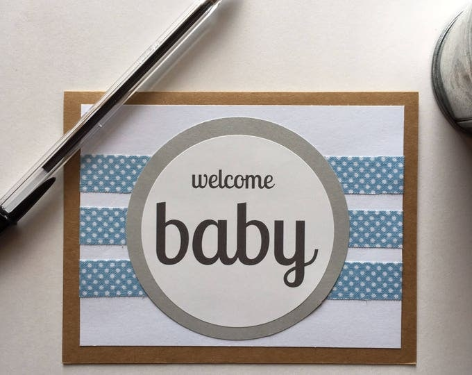 Baby Shower Card | Baby Boy Card | Baby Shower Gift | Baby Boy Gift