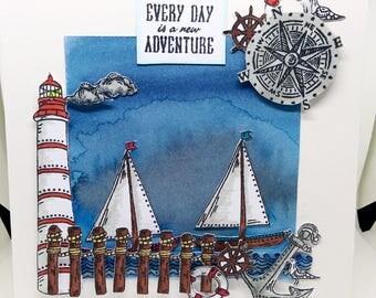 3D Nautical Greeting Card
