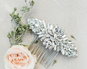 Crystal Comb Bridal Comb Wedding Comb Rhinestone Comb Crystal Hair Piece Wedding Hair Piece Bridal Hair Piece Crystal Headpiece Pearl Comb