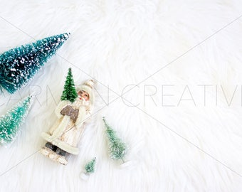 Christmas Winter Stock Photography / Christmas Trees Ornaments / Product Background