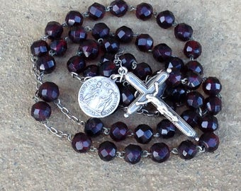 Silver Rosary, Vintage Rosary, Rosary Beads, Catholic Rosary, Christian Gifts, Prayer Beads, Catholic Gifts