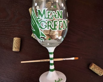 Mean Green Game Glass