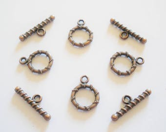 4 Tibetan Style toggles clasps