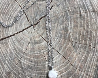 White Crystal Stone Necklace