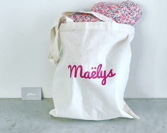 Tote bag personalized (name/nickname) - 8 different colors