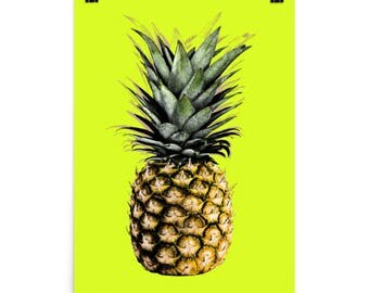 Pineapple With Bright Yellow Background