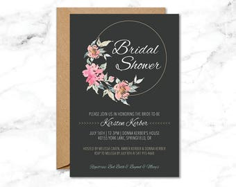 Rustic Bridal Shower - 4x6in - Printable
