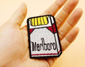 Pack of Marlboro cigarette embroidered patch