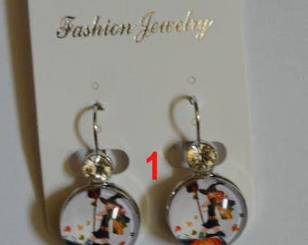 Earrings 1 pair witch, halloween
