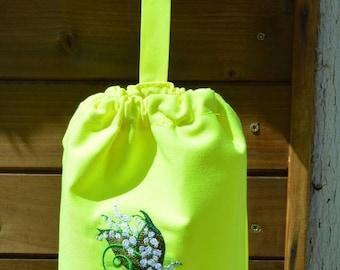 Yellow neon lilies bag