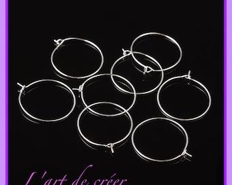10 rings earrings 25mm silver hoop earrings