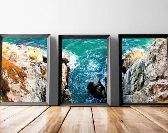 Shoreline Art | Ocean Wall Decor, Sea Poster, Sea Wall Art, Nature Wall Art, Nature Poster, Immediate Download, Printable Poster, Landscape