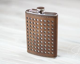 Groomsmen Flask, Flask, Hip Flas, Leather Flask, Personalized Flask, Engraved Flask, Custom Flask, Mens Flask, Best Man Gifts, Groom Gifts