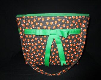 Candy corn print Handbag