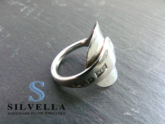 Solid Silver Spoon Ring - George V  hallmarked Sheffield 1921