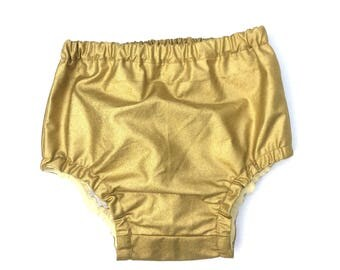 Gold baby Diaper cover Baby nappy pants cake smash outfit metallic pants