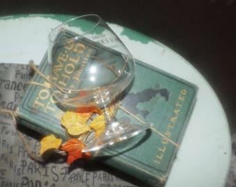 Vintage (c.1980s) Gran Duque de Alba stemmed brandy or cognac snifter made in Spain.