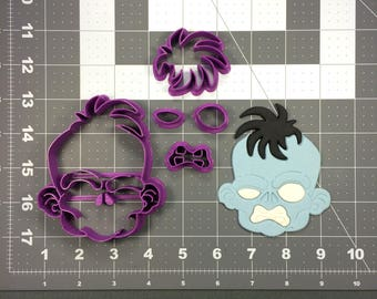 Zombie Face 101 Cookie Cutter Set
