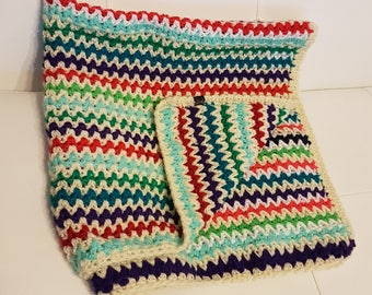 Crochet Colorful Baby Blanket