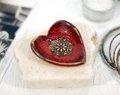 Mini Keramikschale, Herz-Schale, Keramikschale, Ringhalter, Schmuck Gericht, Schmuckstück Gericht, Ringschale, Keramikschale, dekorative Schale, Geschenk für Sie