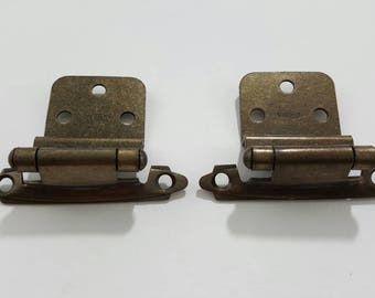 Belwith Cabinet Hinges Antique English Brass Self Closing Rustic Kitchen  Decor Weathered Patina Primitive Farmhouse Decorative