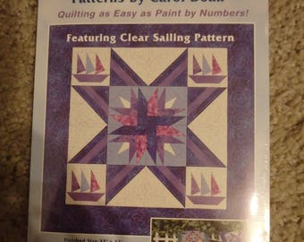 nautical quilt pattern, paper piecing pattern, nautical decor, nautical wall hanging pattern,