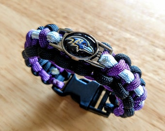 Baltimore Ravens Inspired Paracord Bracelet