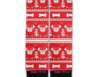Function - Ugly Christmas 8 Bit Pug Fashion Socks