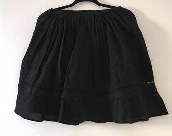 Mexican Black Skirt