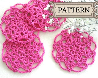 Crochet Pattern Crochet Placemat Coaster Pattern Home Decor Crochet Tablecloth Pattern Crochet Doily Round Crochet Pattern Doilies PDF file