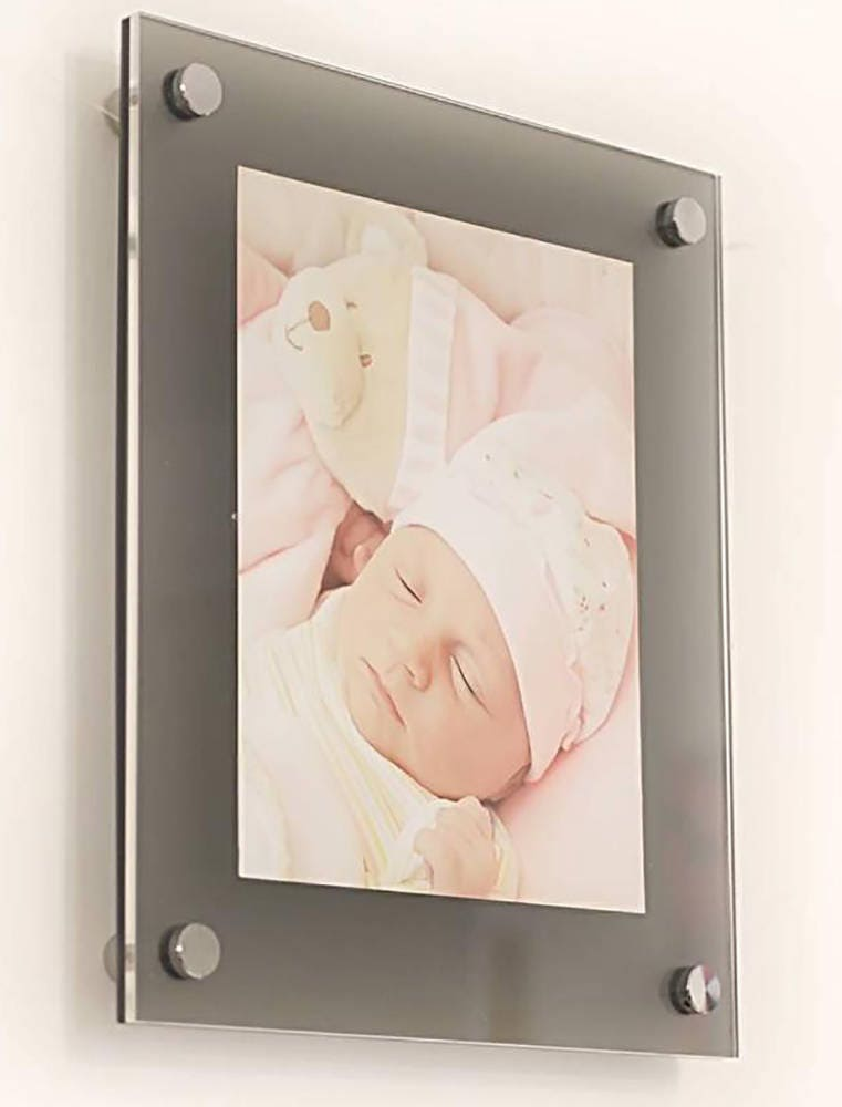 grey frost high gloss cheshire acrylic 10mm 16 x 20 40 x 50 cm 20 x 16 picture photo frame. Black Bedroom Furniture Sets. Home Design Ideas