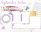 September Notes | Planner Stickers