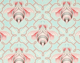 Tula pink Bumble Bee in Jade -  cotton quilting fabric by the yard