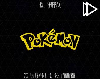Pokemon Font Logo Decal