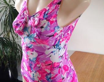 "Women's Vintage ""Ace"" Fluoro Bow 1p Swimsuit S"