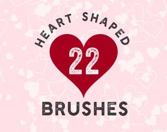 22 Heart-shaped brushes (procreate)