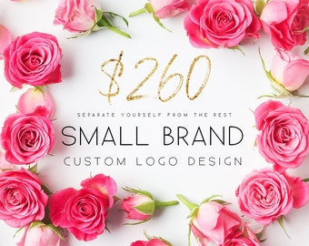 Small Brand Commercial Use Custom Logo Design Branding Design A Custom, One of a Kind Logo - Unique Professional Branding Packages