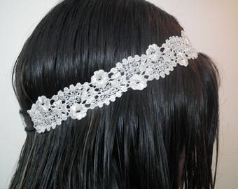 For different hairstyles silver lace headband