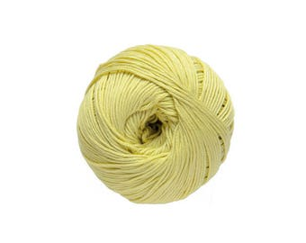 Cotton knit or crochet Natura No. 43 golden lemon