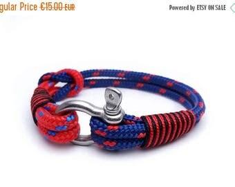 15%OFF Nautical bracelet/Sailor Bracelet/Mens bracelet/mens anchor bracelet/surfer bracelet/paracord bracelet/Shackle Bracelet/nautische arm